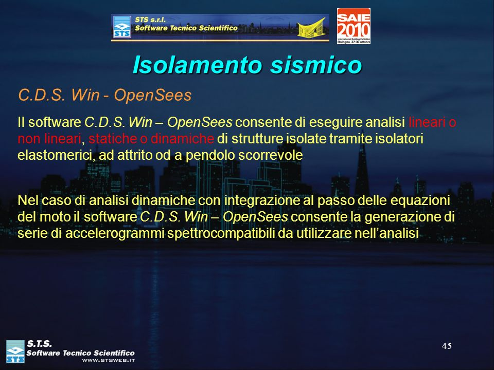 Isolamento sismico C.D.S. Win - OpenSees