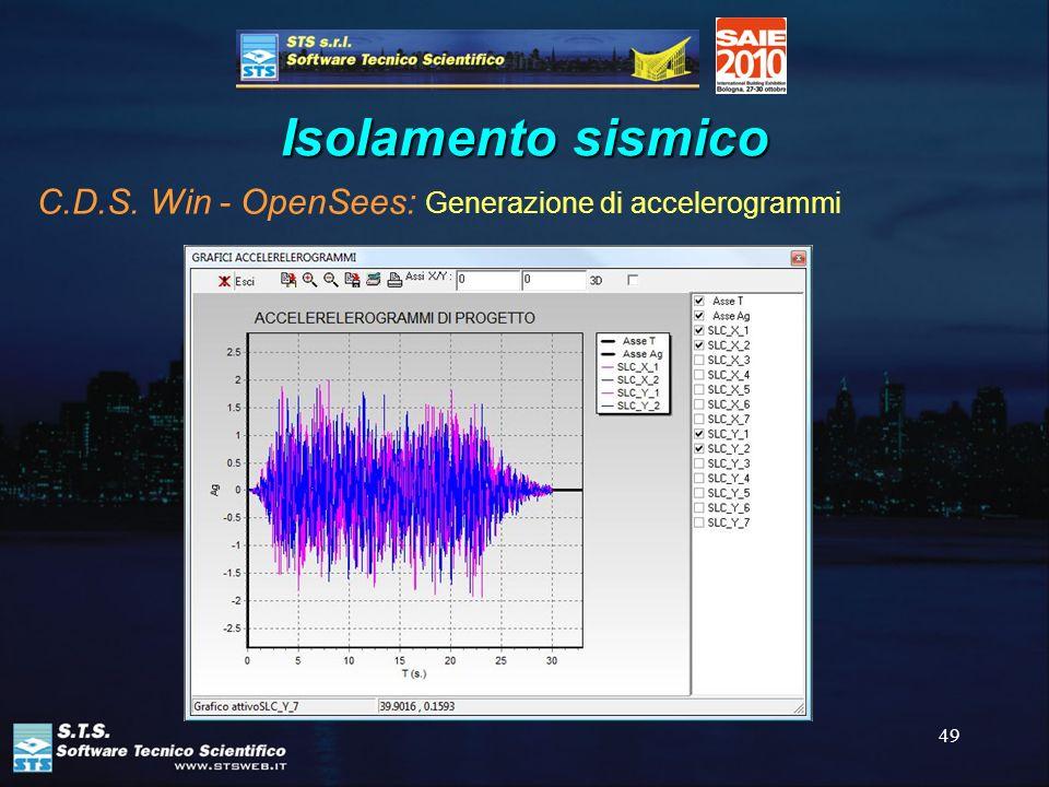 Isolamento sismico C.D.S. Win - OpenSees: Generazione di accelerogrammi