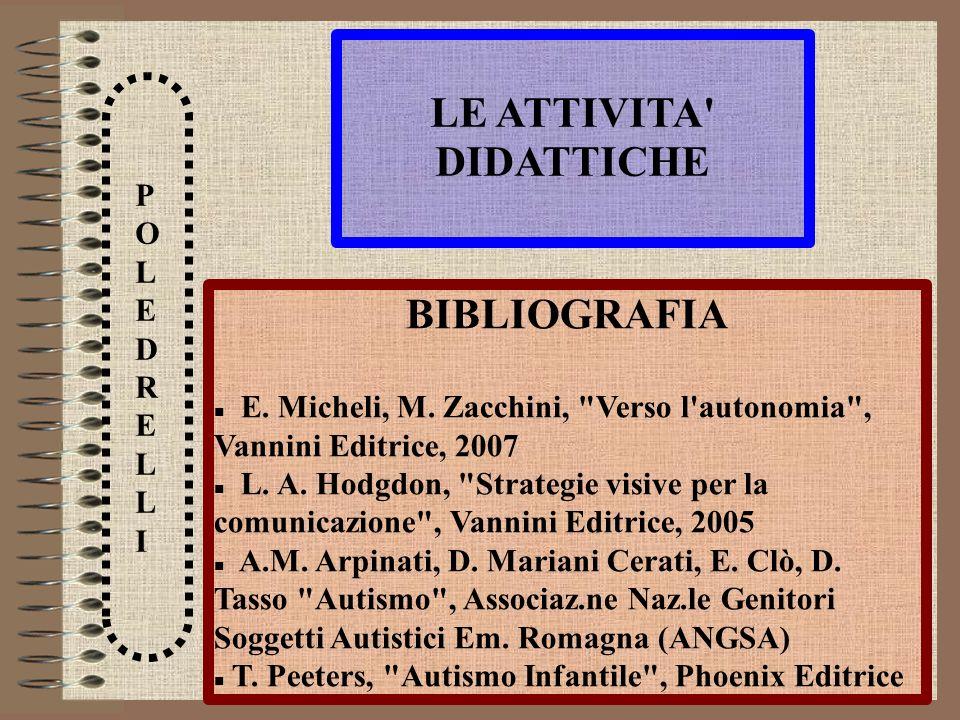 LE ATTIVITA DIDATTICHE BIBLIOGRAFIA