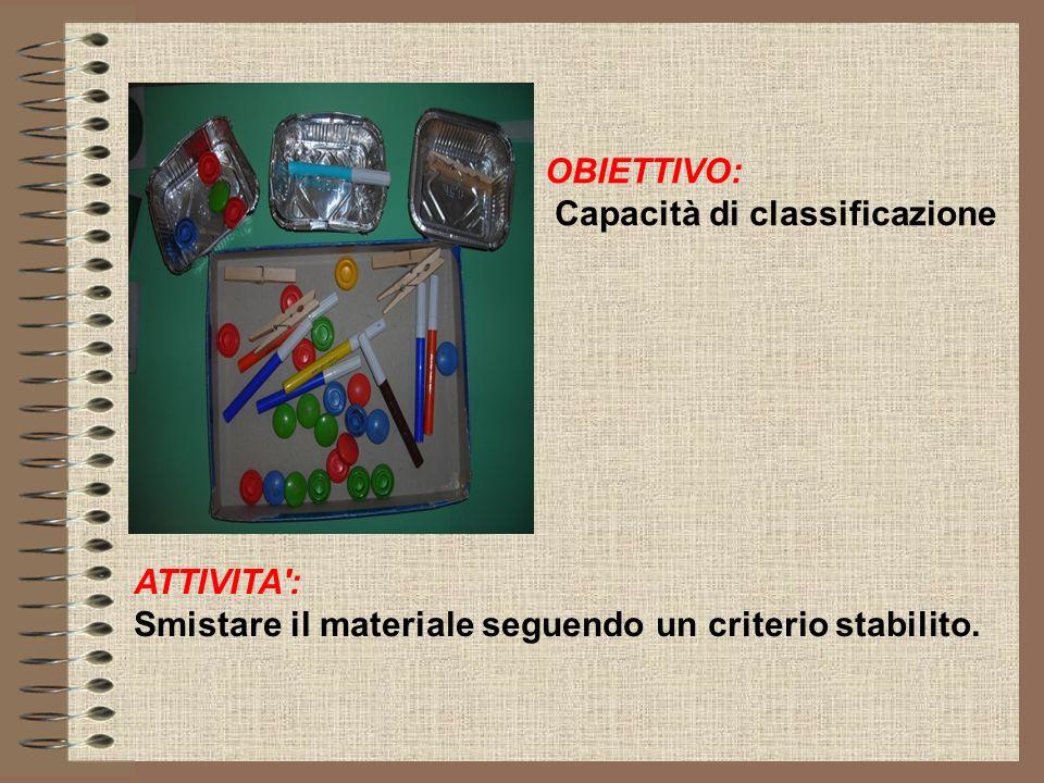 OBIETTIVO: Capacità di classificazione.