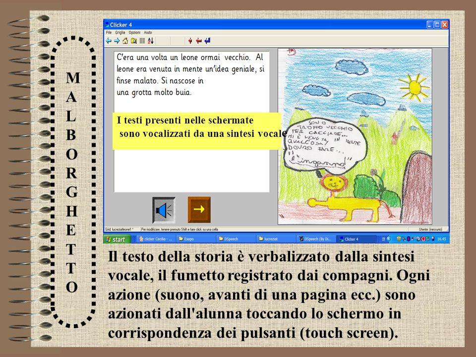 I testi presenti nelle schermate
