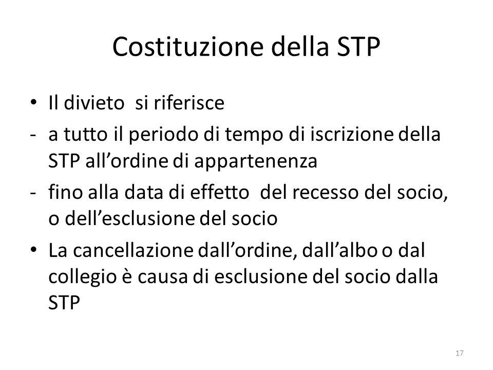 Costituzione della STP