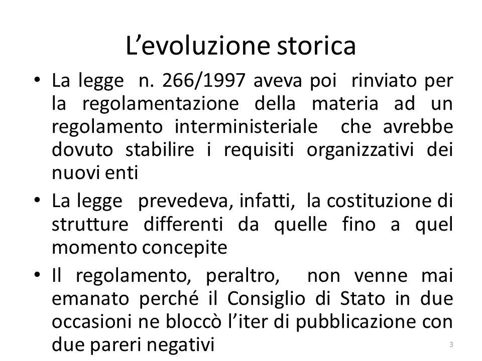 L'evoluzione storica