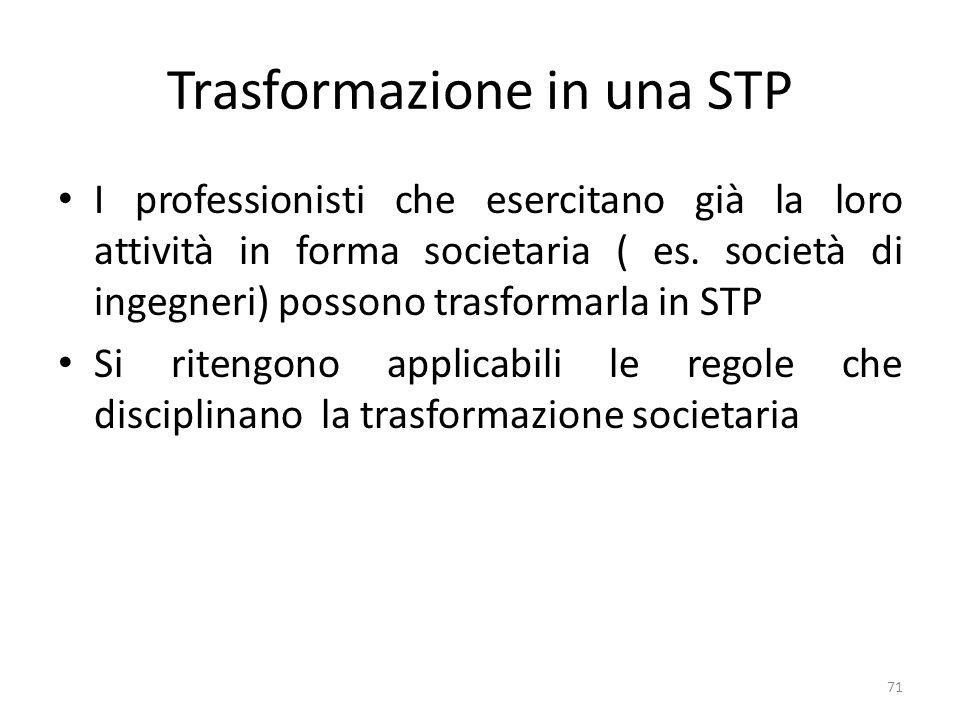 Trasformazione in una STP