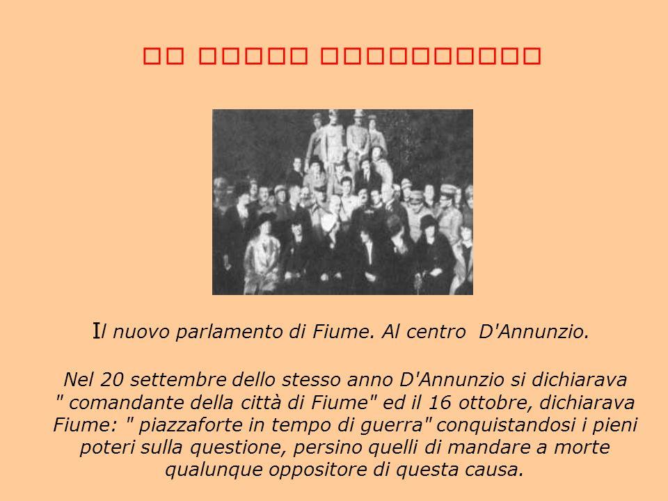 Il nuovo parlamento di Fiume. Al centro D Annunzio.