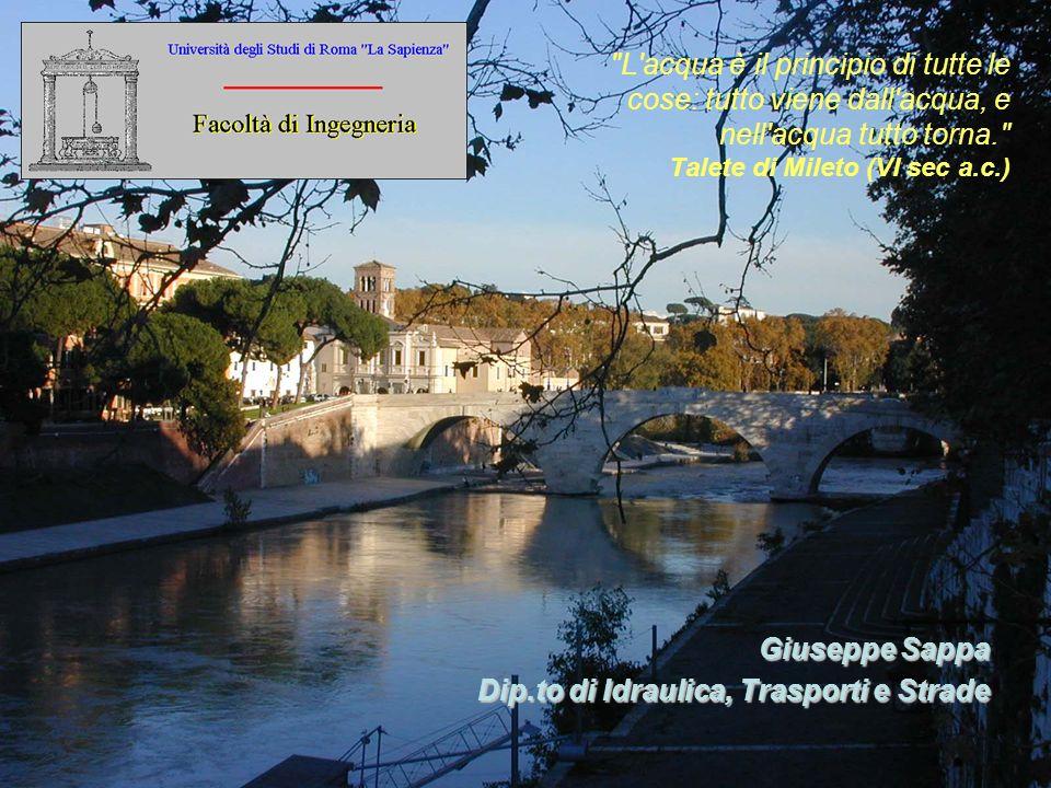 Giuseppe Sappa Dip.to di Idraulica, Trasporti e Strade