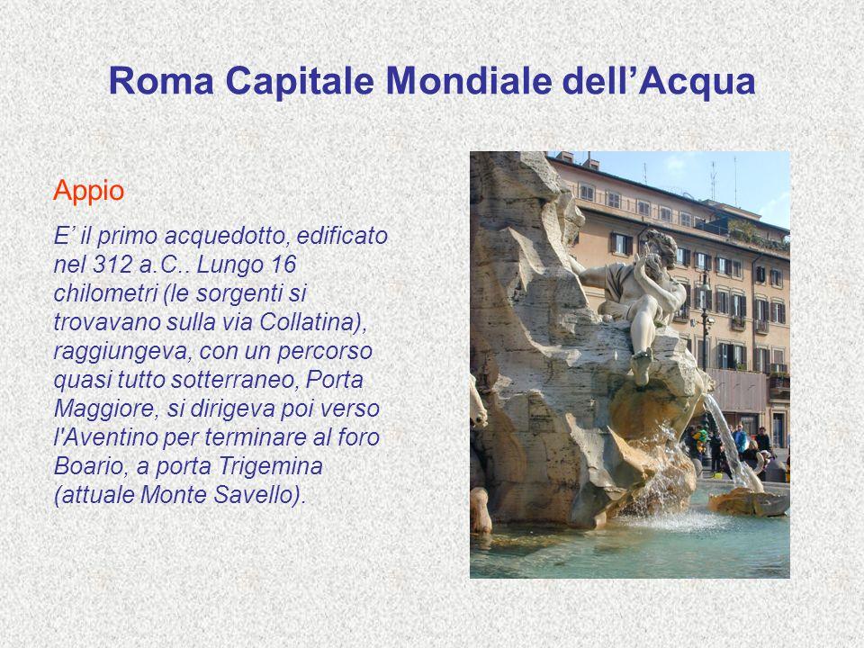 Roma Capitale Mondiale dell'Acqua