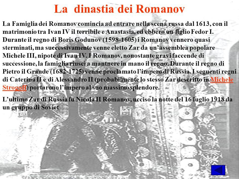 La dinastia dei Romanov