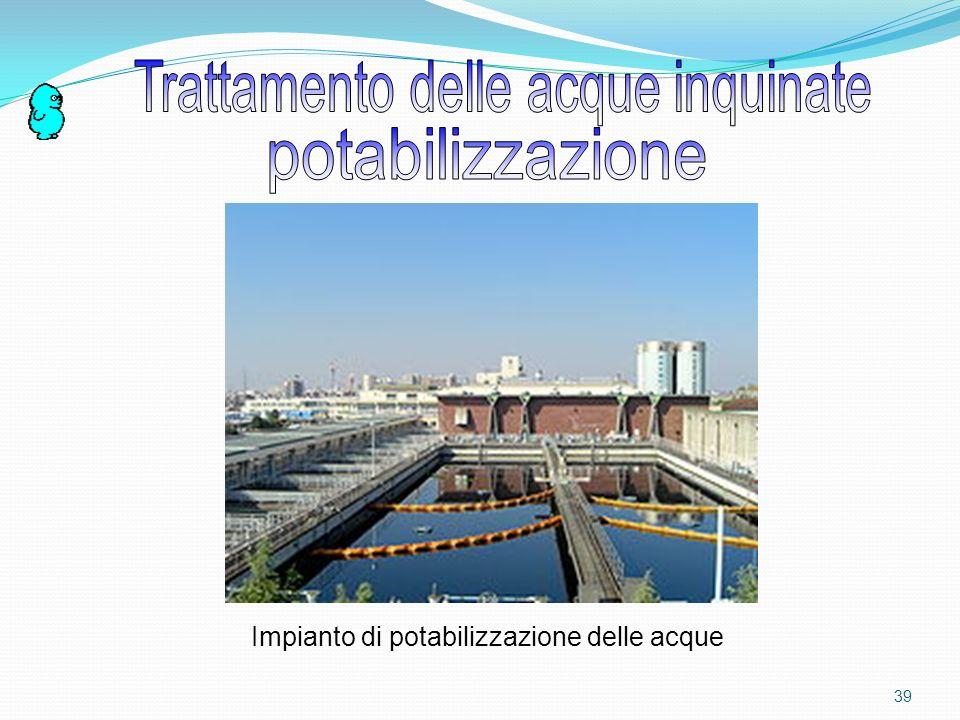 Trattamento delle acque inquinate potabilizzazione
