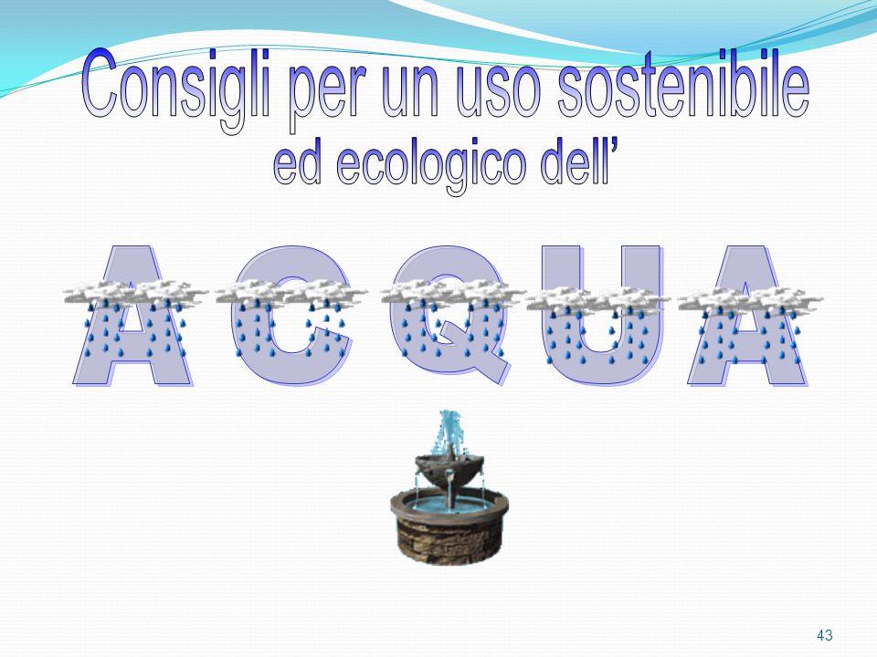 Consigli per un uso sostenibile