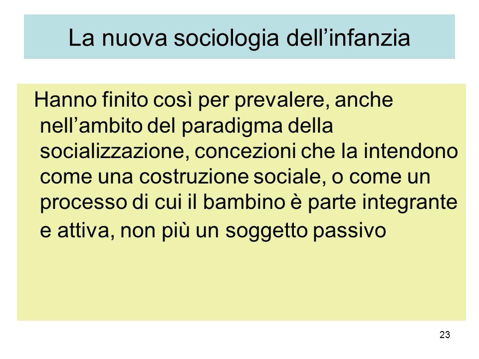 La nuova sociologia dell'infanzia