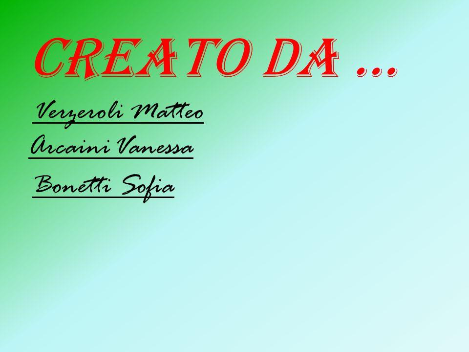 Creato da … Verzeroli Matteo Arcaini Vanessa Bonetti Sofia