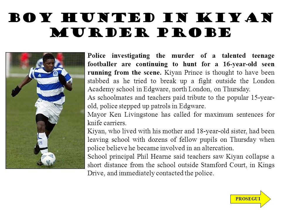 Boy hunted in Kiyan murder probe