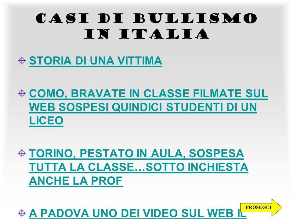 CASI DI BULLISMO IN ITALIA