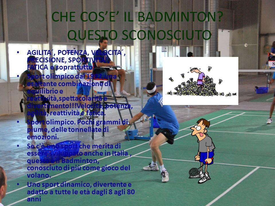 CHE COS'E' IL BADMINTON QUESTO SCONOSCIUTO