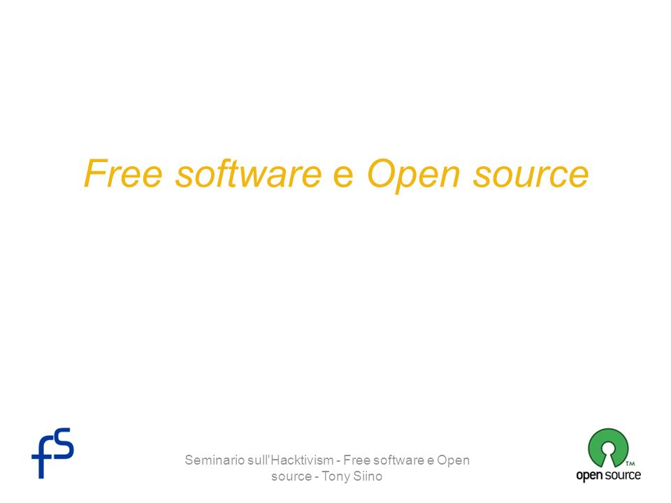 Free software e Open source