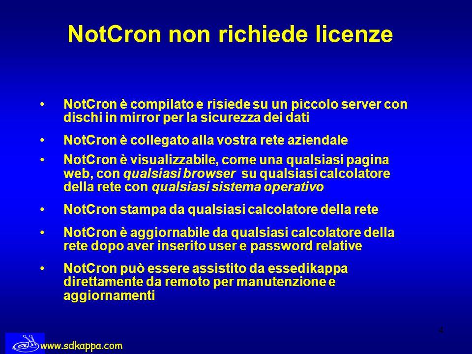 NotCron non richiede licenze