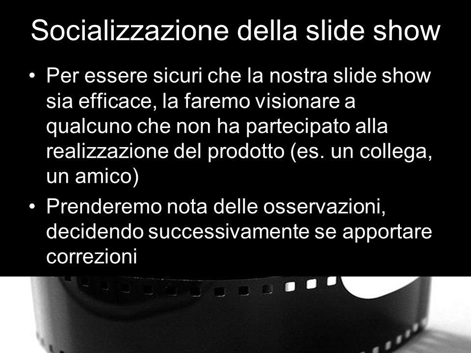 Socializzazione della slide show