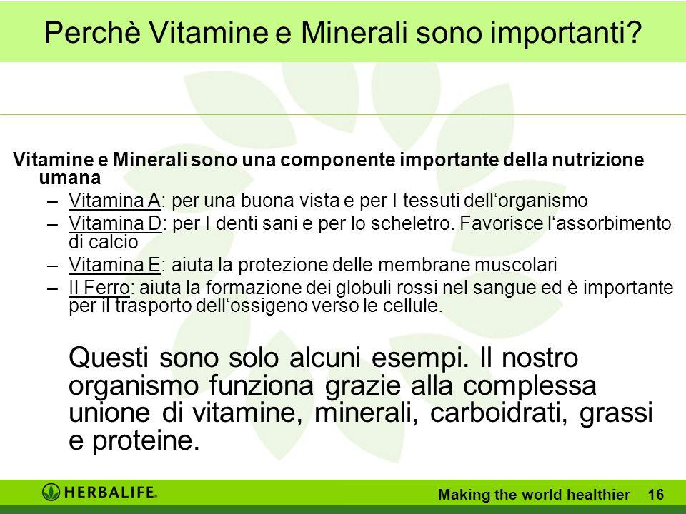 Perchè Vitamine e Minerali sono importanti