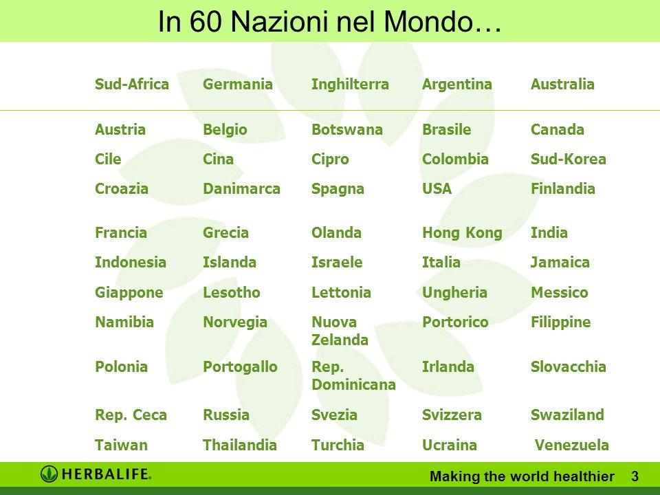 In 60 Nazioni nel Mondo… Sud-Africa Germania Inghilterra Argentina