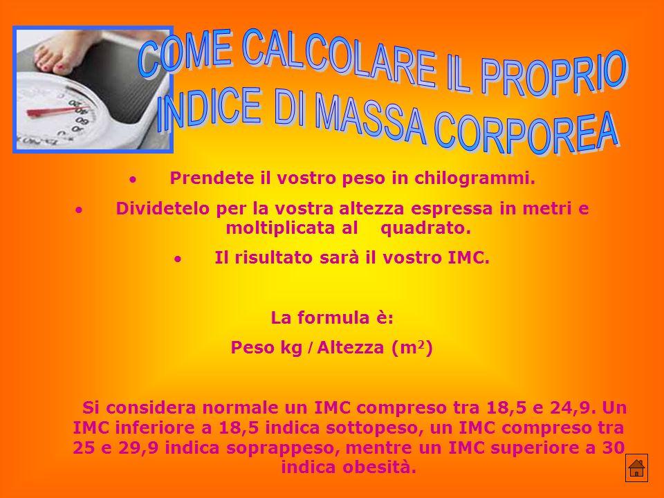 COME CALCOLARE IL PROPRIO INDICE DI MASSA CORPOREA