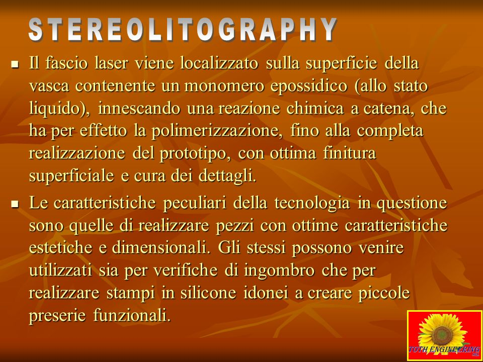 STEREOLITOGRAPHY