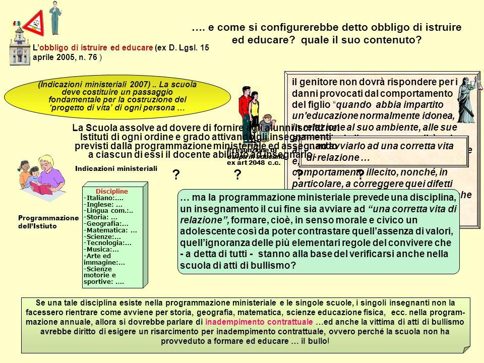 L'obbligo di istruire ed educare (ex D. Lgsl. 15 aprile 2005, n. 76 )