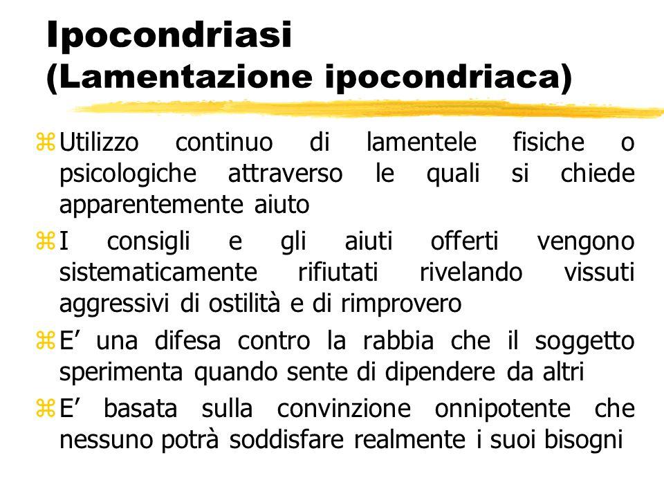 Ipocondriasi (Lamentazione ipocondriaca)