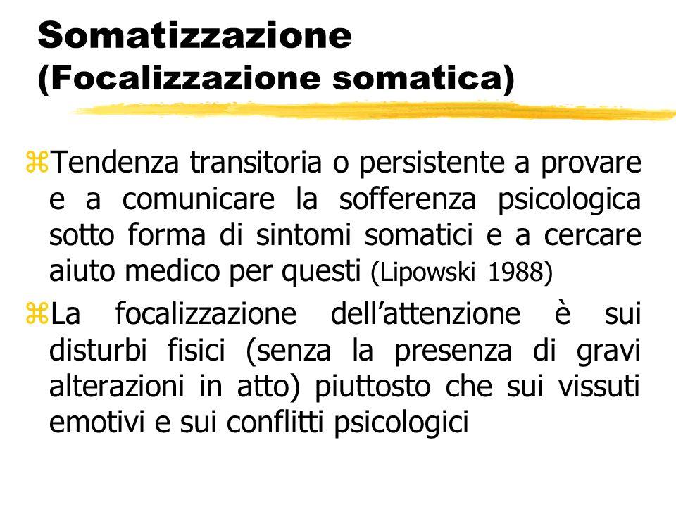 Somatizzazione (Focalizzazione somatica)