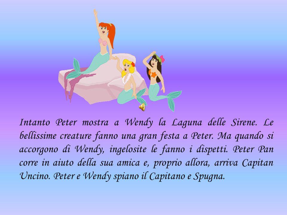 Intanto Peter mostra a Wendy la Laguna delle Sirene