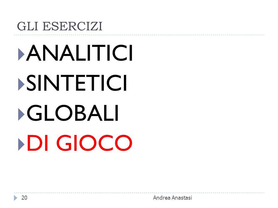 GLI ESERCIZI ANALITICI SINTETICI GLOBALI DI GIOCO Andrea Anastasi