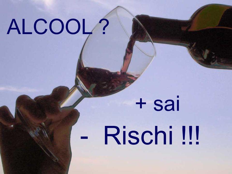 ALCOOL + sai - Rischi !!!