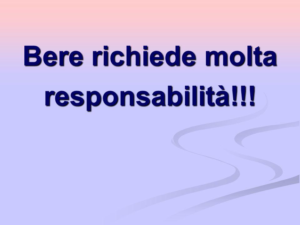 Bere richiede molta responsabilità!!!