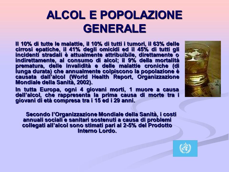 ALCOL E POPOLAZIONE GENERALE