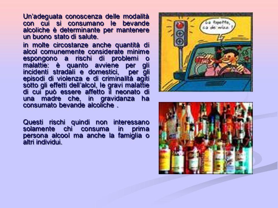 Un'adeguata conoscenza delle modalità con cui si consumano le bevande alcoliche è determinante per mantenere un buono stato di salute.