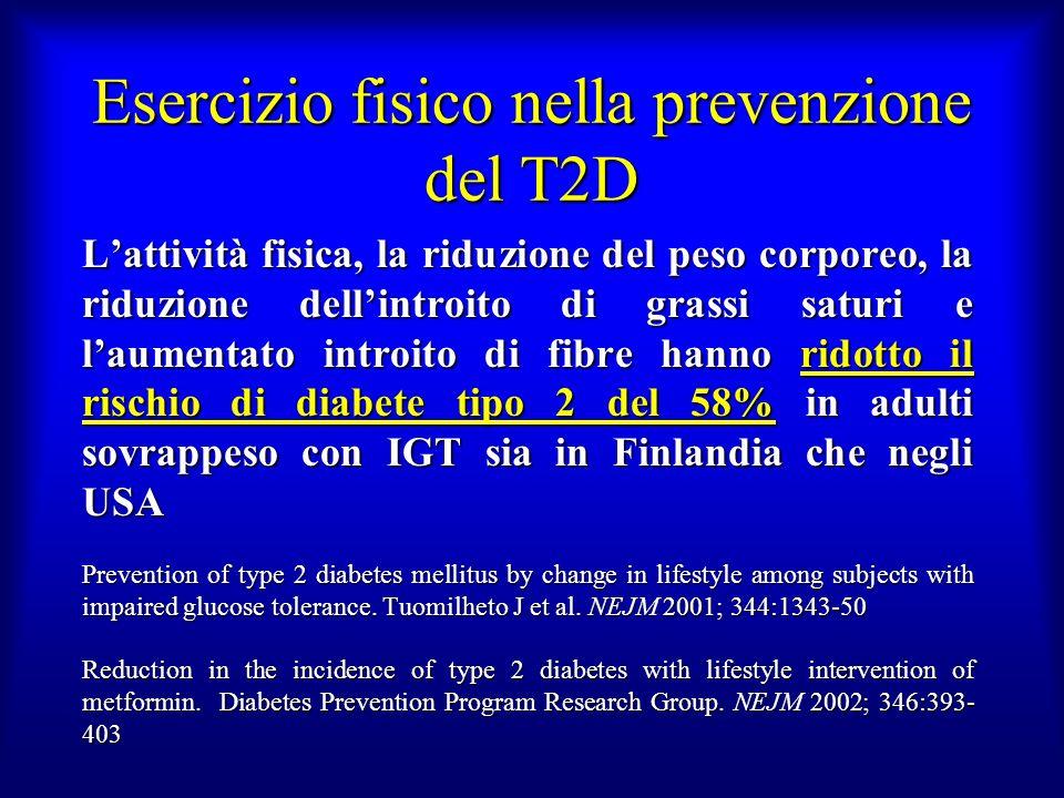 Esercizio fisico nella prevenzione del T2D