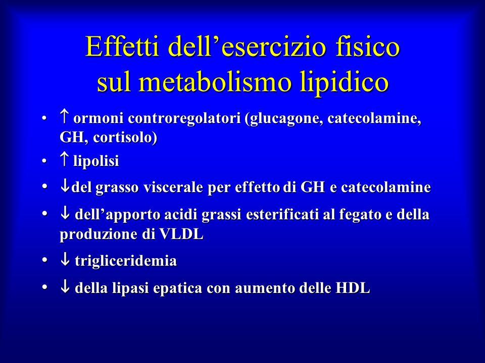 Effetti dell'esercizio fisico sul metabolismo lipidico