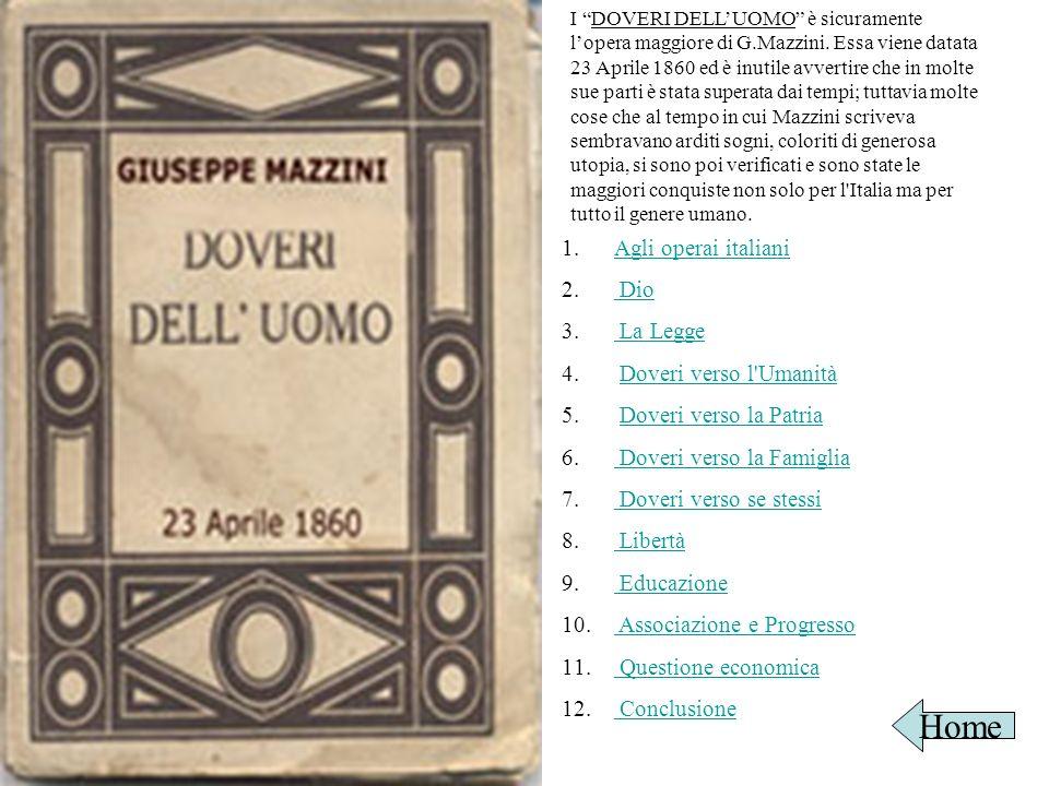 Home Agli operai italiani Dio La Legge Doveri verso l Umanità