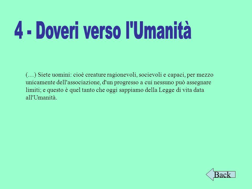 4 - Doveri verso l Umanità