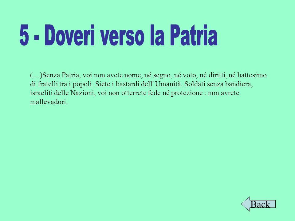 5 - Doveri verso la Patria