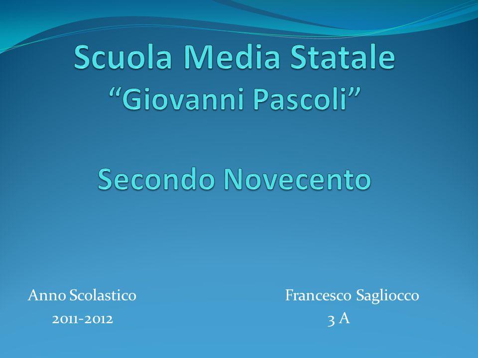 Scuola Media Statale Giovanni Pascoli Secondo Novecento