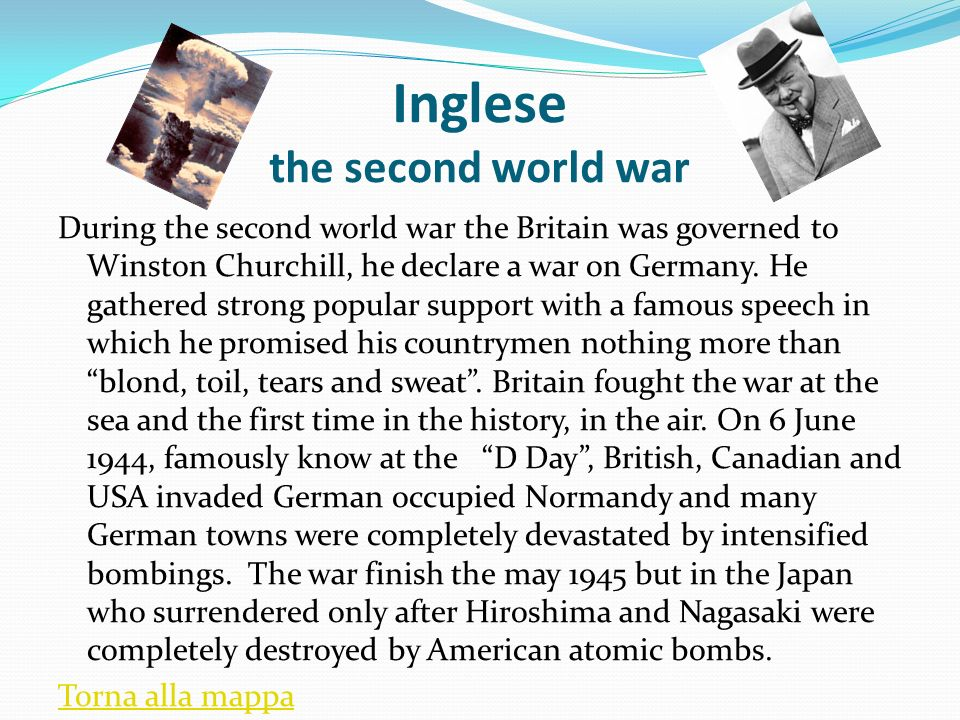 Inglese the second world war
