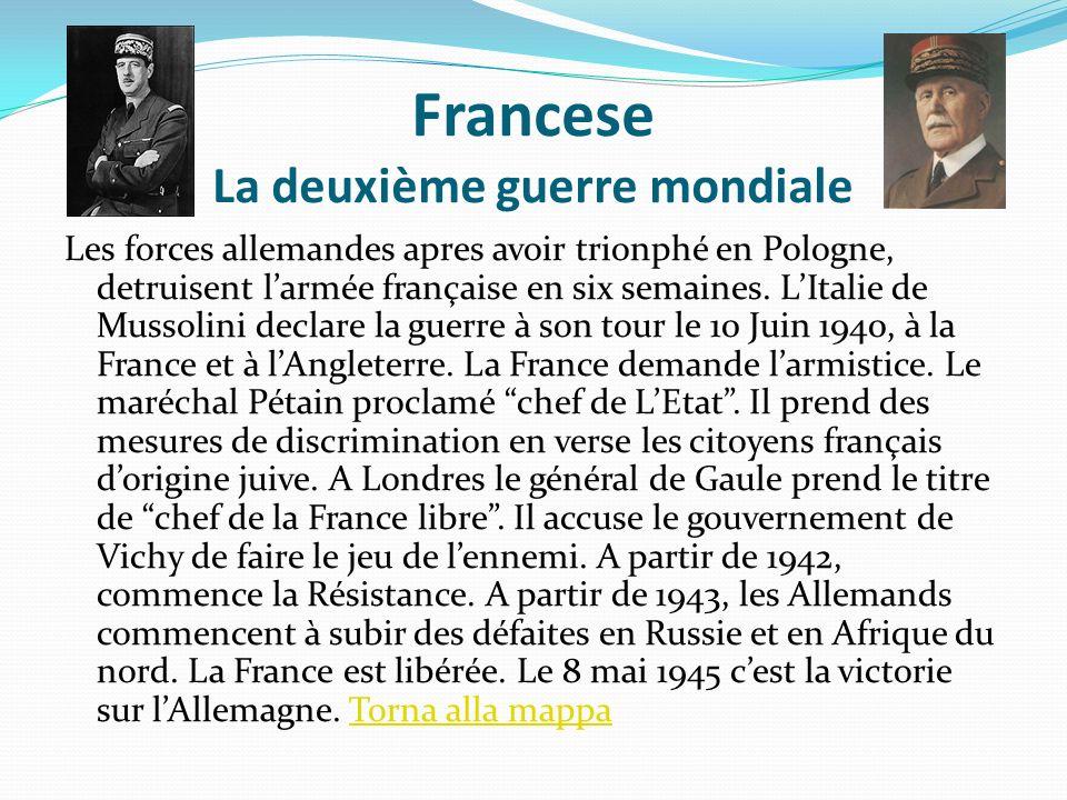 Francese La deuxième guerre mondiale