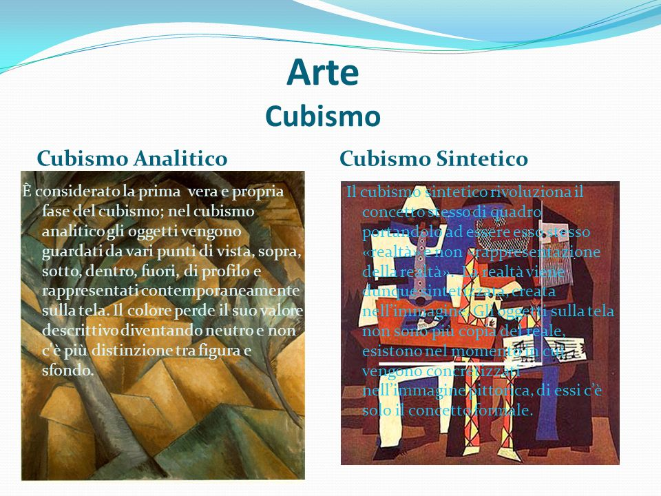 Arte Cubismo Cubismo Analitico Cubismo Sintetico