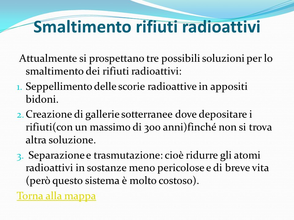 Smaltimento rifiuti radioattivi