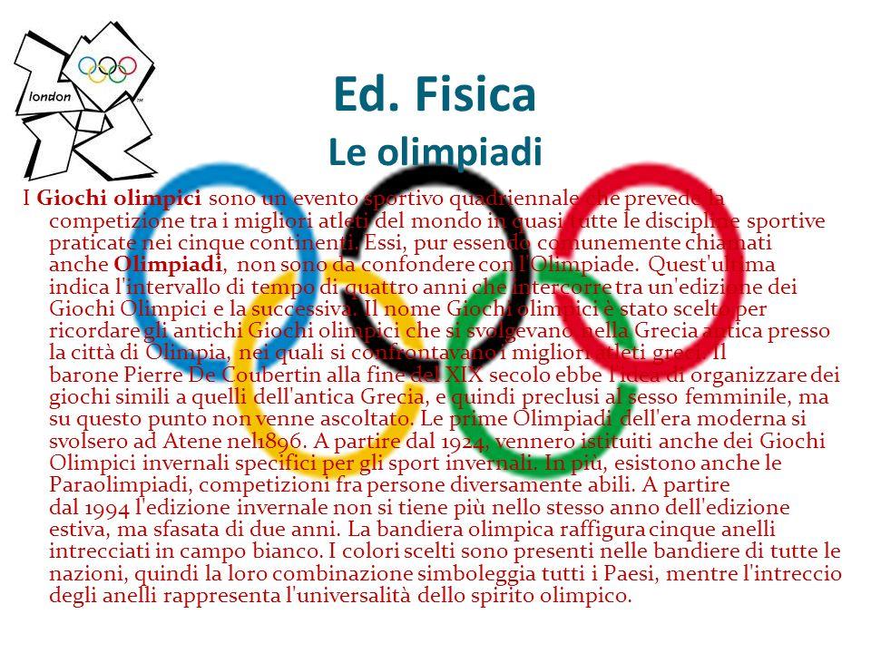 Ed. Fisica Le olimpiadi