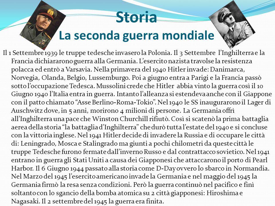 Storia La seconda guerra mondiale