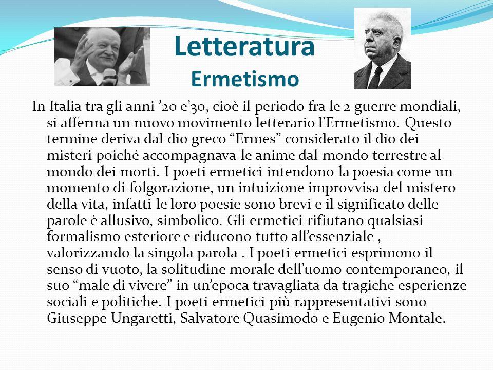 Letteratura Ermetismo