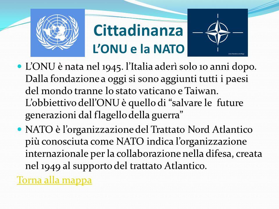 Cittadinanza L'ONU e la NATO