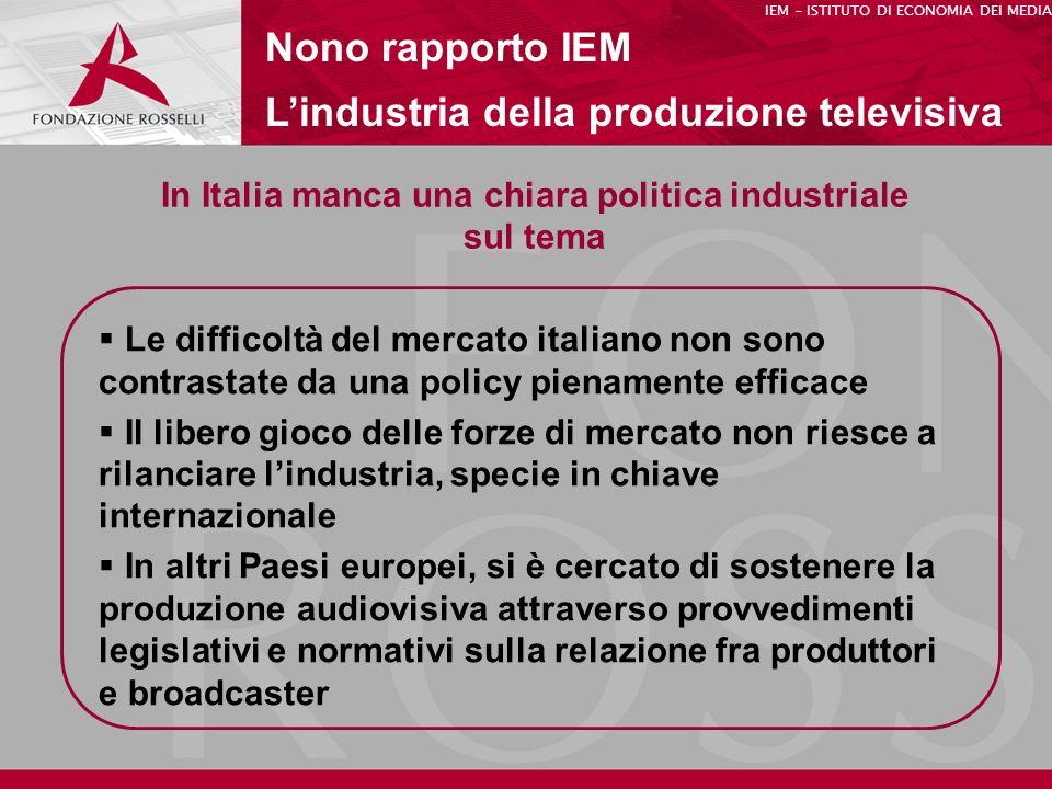 In Italia manca una chiara politica industriale sul tema